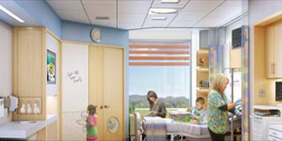 Rendering of the Lucile Packard Children's Hospital Expansion